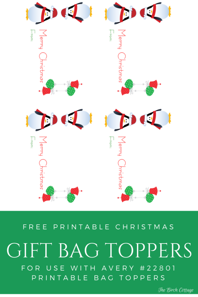 graphic regarding Christmas Bag Toppers Free Printable named Rejoice Again toward Faculty with Printable Xmas Present Bag