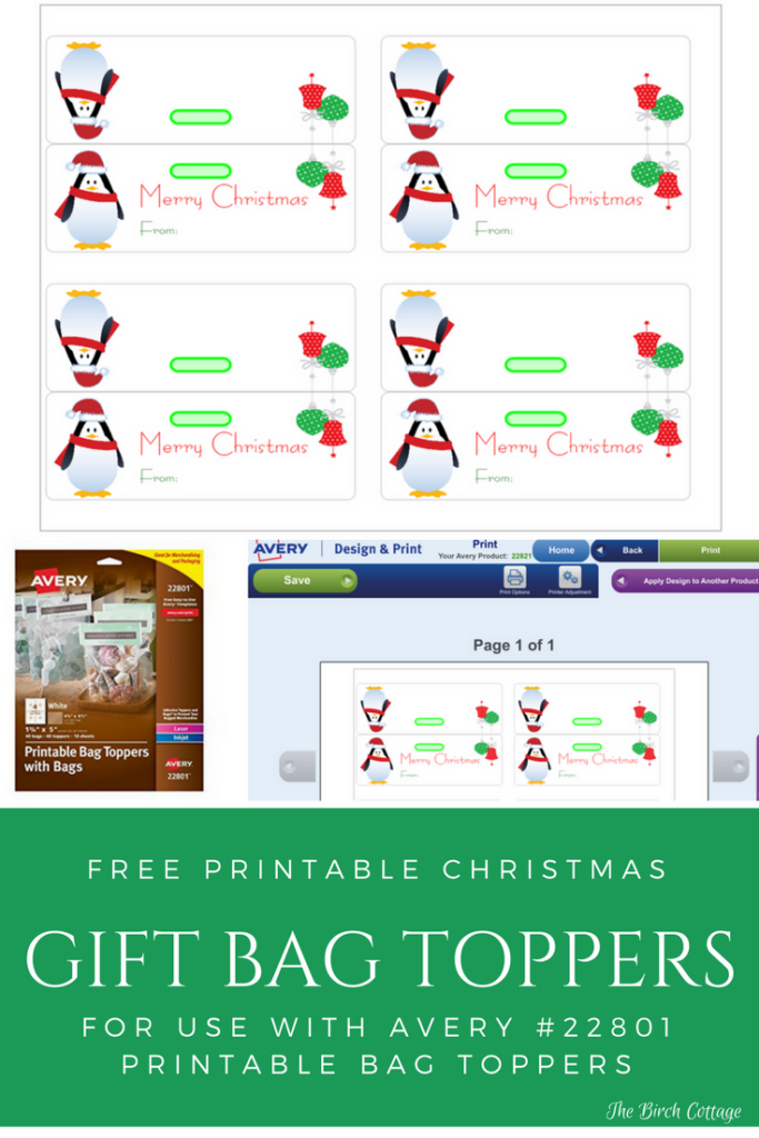 Printable Christmas Gift Bag Toppers