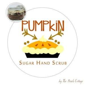 Sugar Hand Scrub Vanilla Pumpkin Pie Spice Printable Labels
