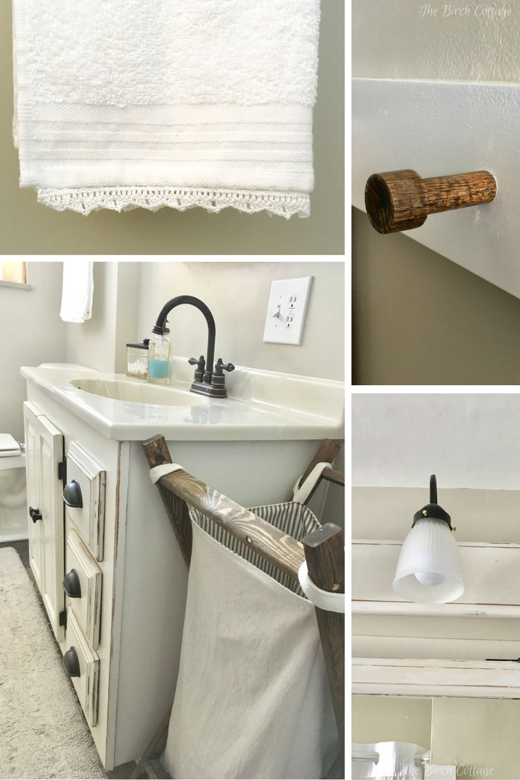 Cottage farmhouse style Bathroom Renovation from The Birch Cottage