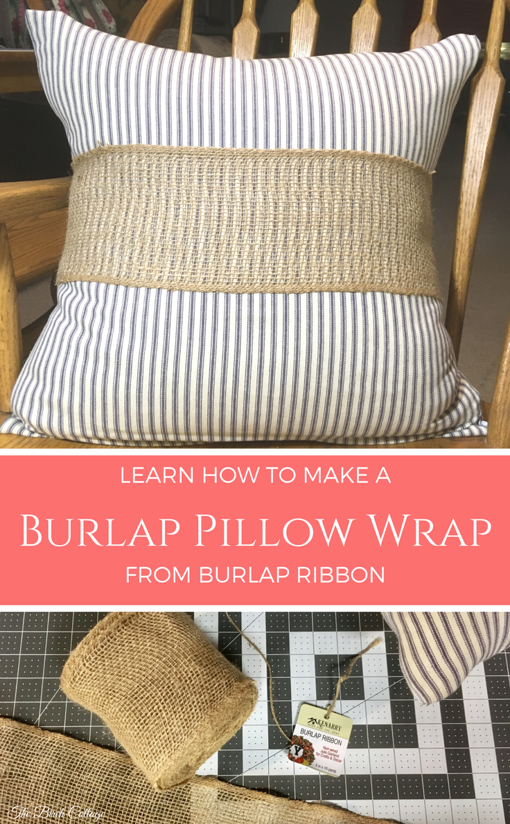 Learn how to make this no-sew burlap wrap from burlap ribbon.