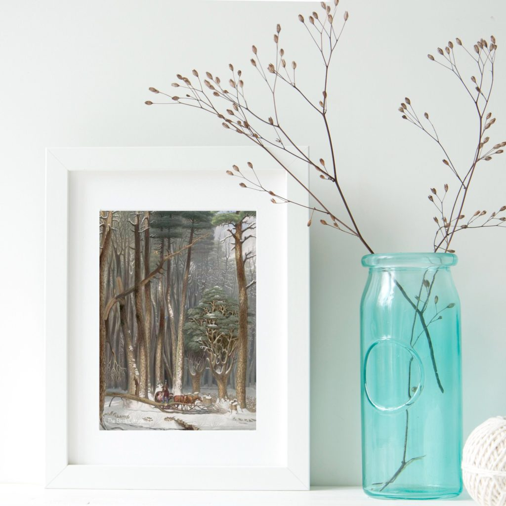Download and print these four seasons vintage illustrations.