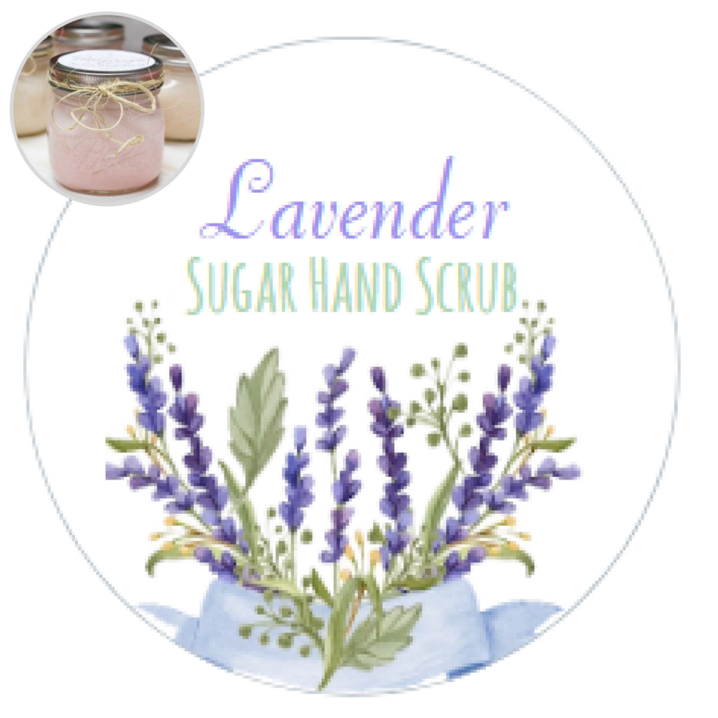 Sugar Hand Scrub Printable Labels by The Birch Cottage are new for 2017 - Lavender