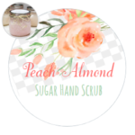Sugar Hand Scrub Printable Labels by The Birch Cottage are new for 2017 - Peach Almond
