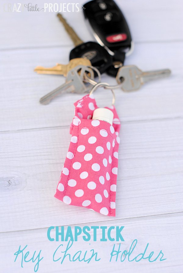 Chapstick Keychain Holder - Handmade Gift Ideas for Teens by The Birch Cottage