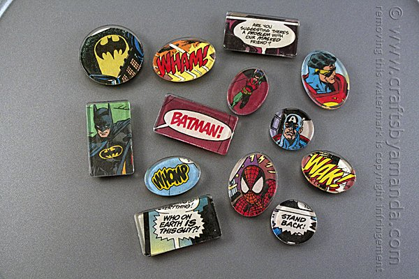 Superhero Comic Book Magnets - Handmade Gift Ideas for Teens by The Birch Cottage