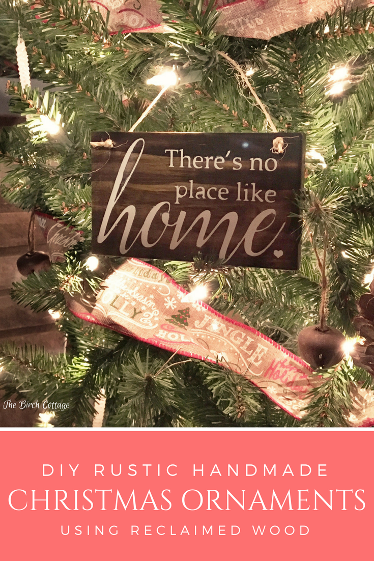 DIY Rustic Handmade Christmas Ornaments from Reclaimed Wood by The Birch Cottage