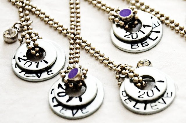 DIY Stamped Washer Necklaces - Handmade Gift Ideas for Teens from The Birch Cottage