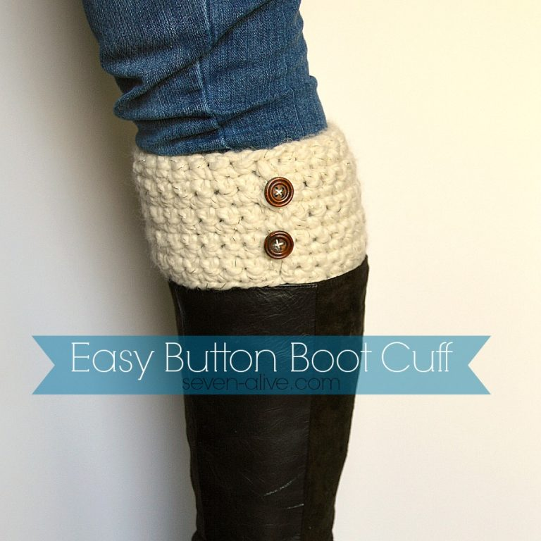 Easy Button Boot Cuff - Handmade Gift Ideas for Teens from The Birch Cottage