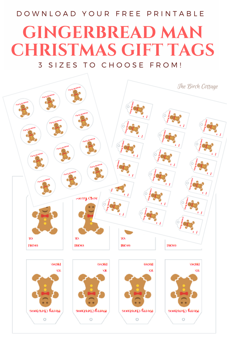 Gingerbread Man Christmas Gift Tags by The Birch Cottage
