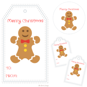 Gingerbread Man Christmas Gift Tags – A Gift for Pauline