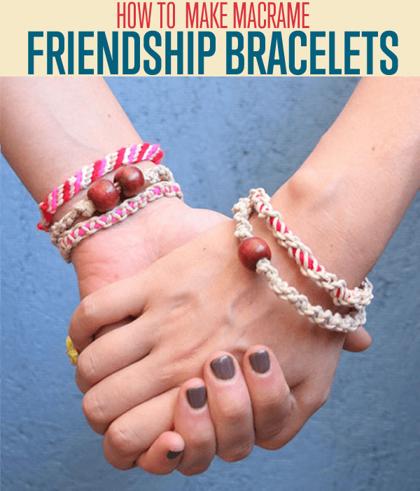 Hemp Macrame Friendship Bracelet - Handmade Gift Ideas for Teens by The Birch Cottage