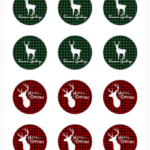 Plaid Christmas Deer Gift Tags - Avery 22807 - The Birch Cottage - 03