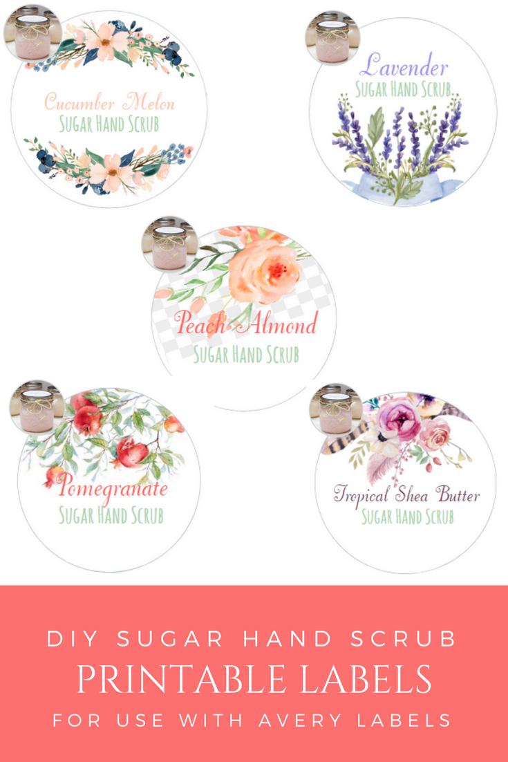 Sugar Hand Scrub Printable Labels and Gift Tags by The Birch Cottage