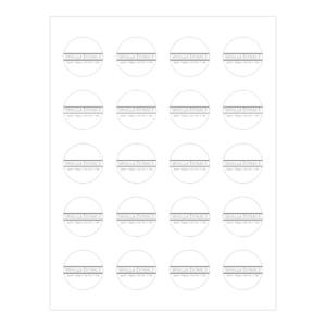 Vanilla Extract Printable Labels - Avery 8293