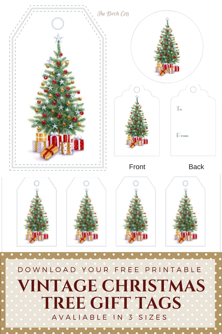 Vintage Christmas Tree Gift Tags - The Birch Cottage - The Birch Cottage