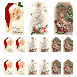 Vintage Christmas Gift Tags from The Birch Cottage