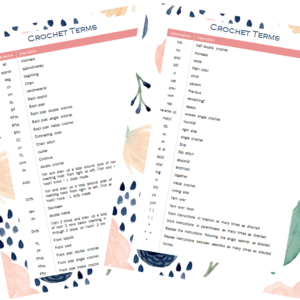 Crochet Terms and Abbreviations by The Birch Cottage