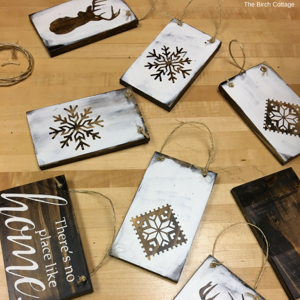 DIY Rustic Christmas Ornaments by The Birch Cottage