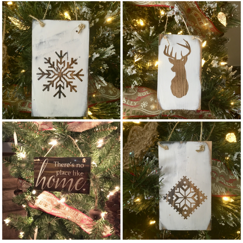 DIY Rustic Handmade Christmas Ornaments by The Birch Cottage