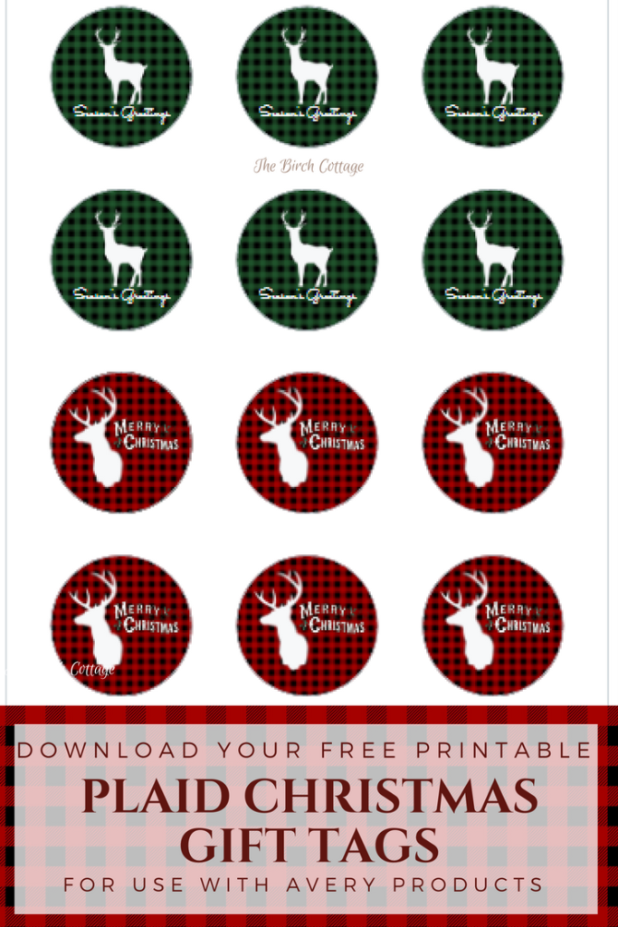 Plaid Christmas Gift Tags by The Birch Cottage