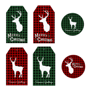 Merry Christmas from My Family to Yours! {Free Plaid Christmas Gift Tags!}