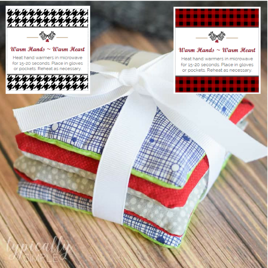 Printable Hand Warmer Labels by The Birch Cottage are for use with Avery 22816 Print-to-Edge Labels