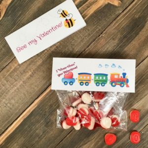 Adorable Printable Valentine's Day Gift Bag Toppers