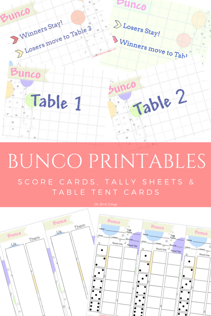 picture regarding Printable Table Tents identified as Engage in Bunco with Printable Bunco Ranking, Tally Tent Playing cards