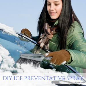 Make this DIY Ice Preventative Spray for your car!