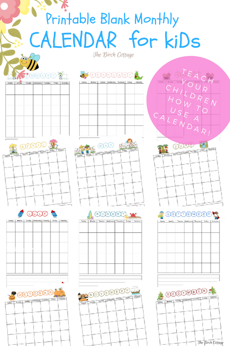 Teach Your Children How To Use A Calendar With This Printable