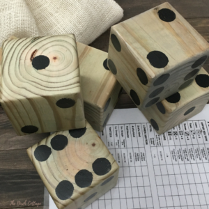 DIY Yard Dice with Free Printable Yahtzee® Score Sheets