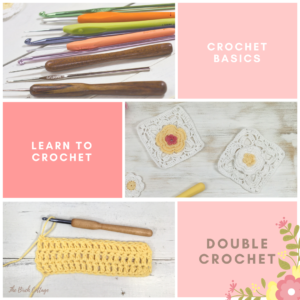 Learn to double crochet in this learn to crochet series by The Birch Cottage