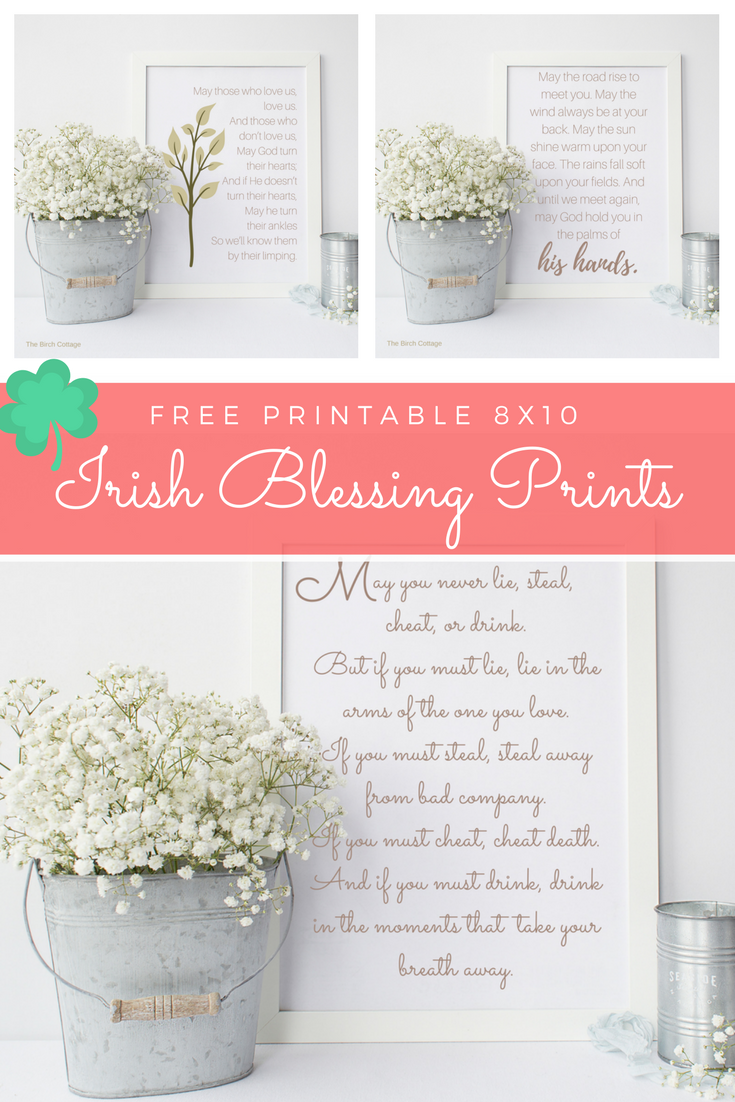 graphic about Printable Irish Blessing identified as Welcome March with 3 Irish Blessing Prints for Your Property