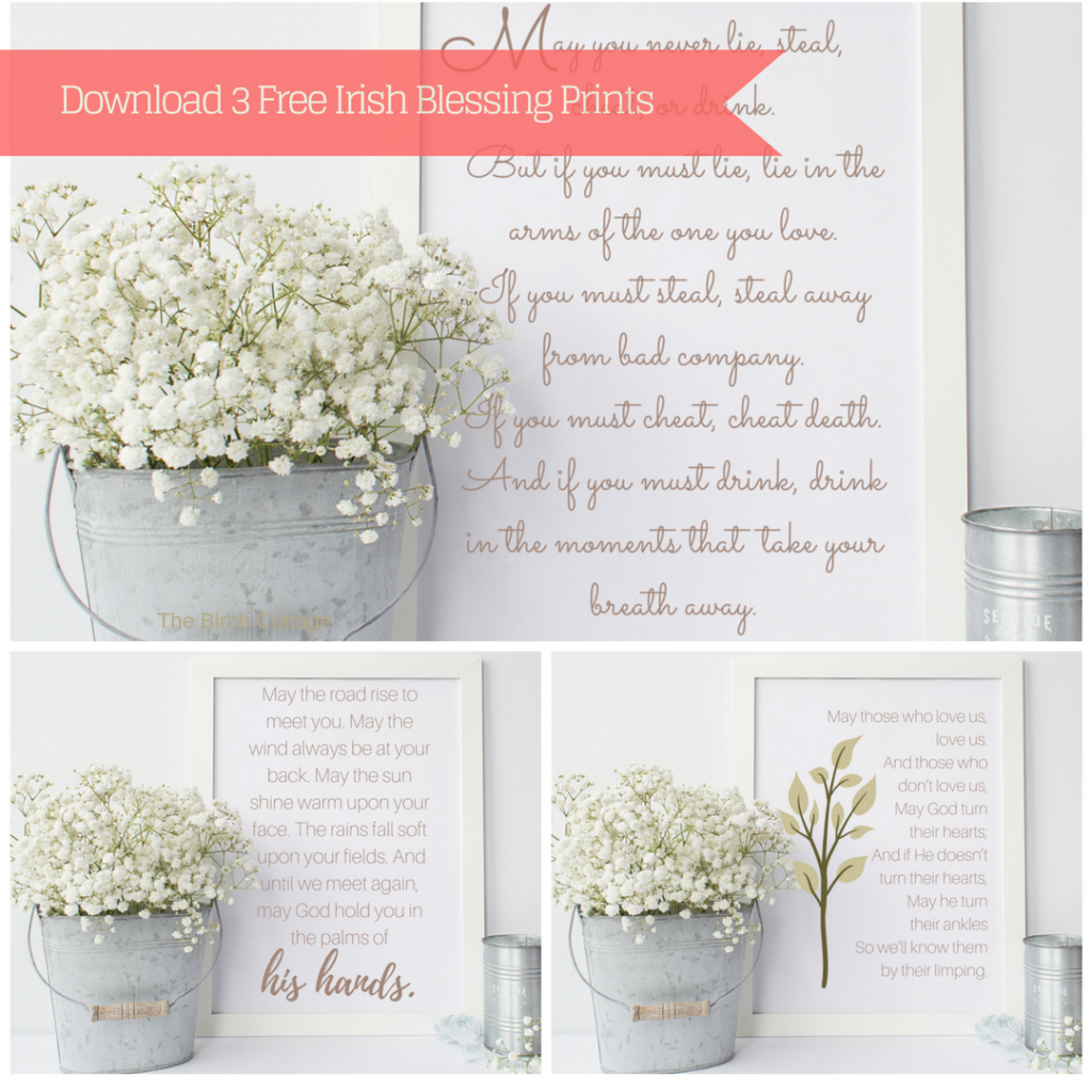 Download 3 Irish Blessing Prints by The Birch Cottage