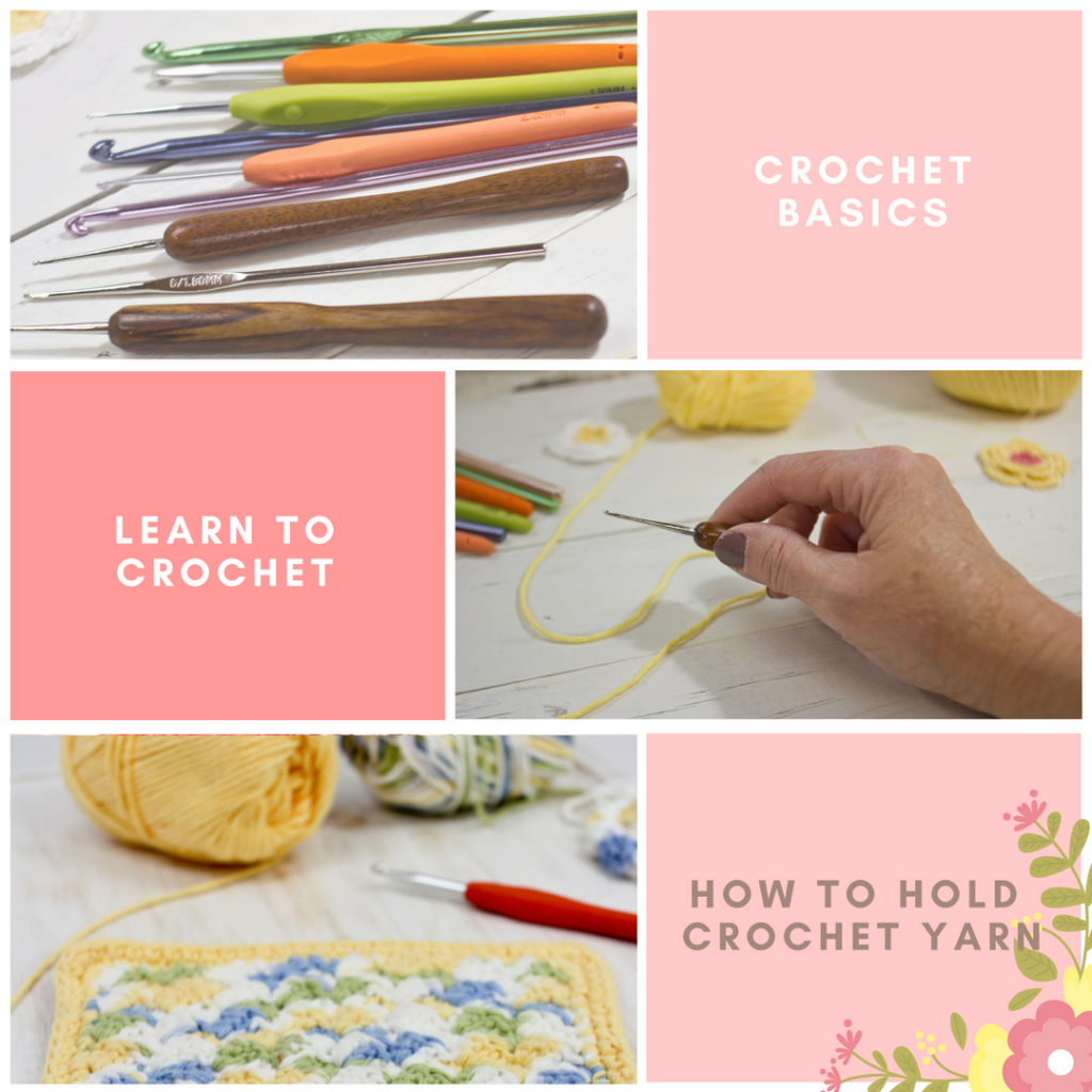 Learn to Crochet: How to hold crochet yarn in your hand by The Birch Cottage