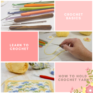 Learn to Crochet: How to Hold Crochet Yarn in Your Hand