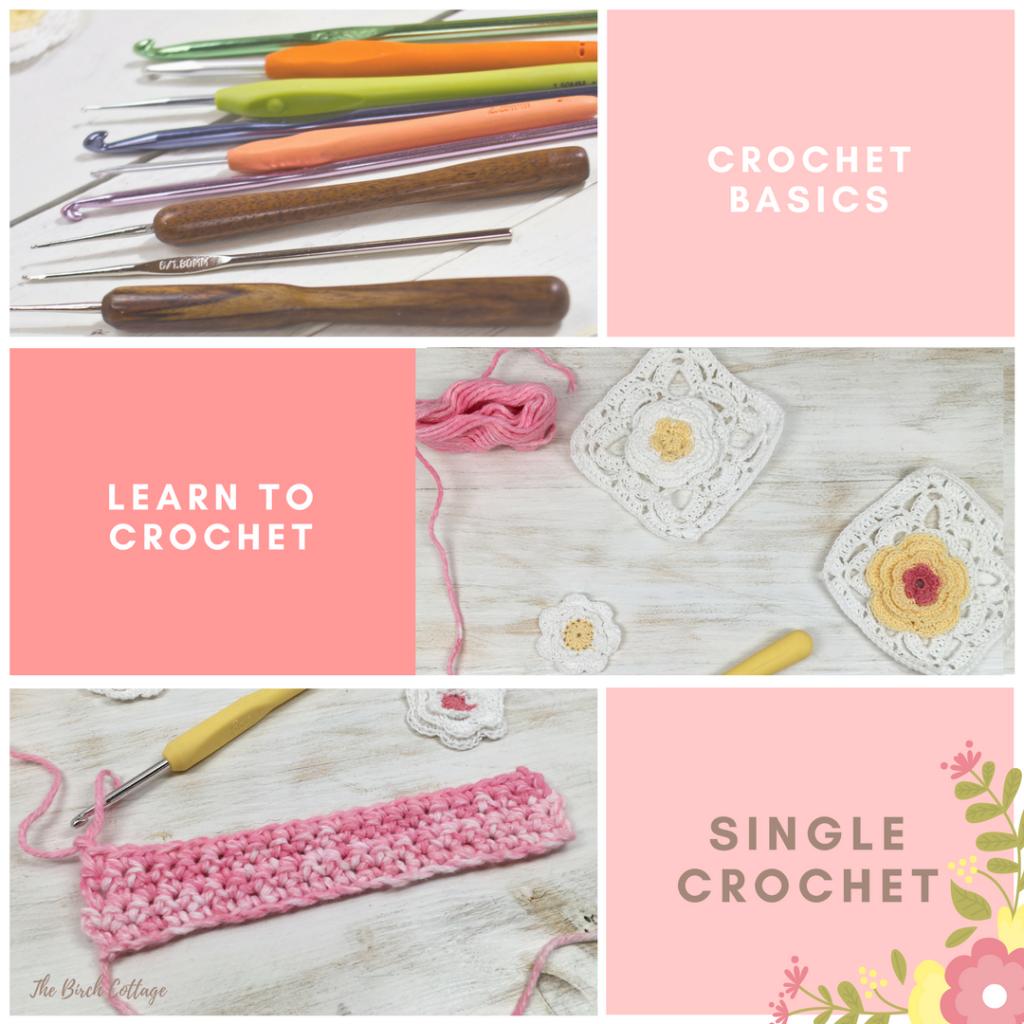 Learn to Crochet the single crochet stitch.