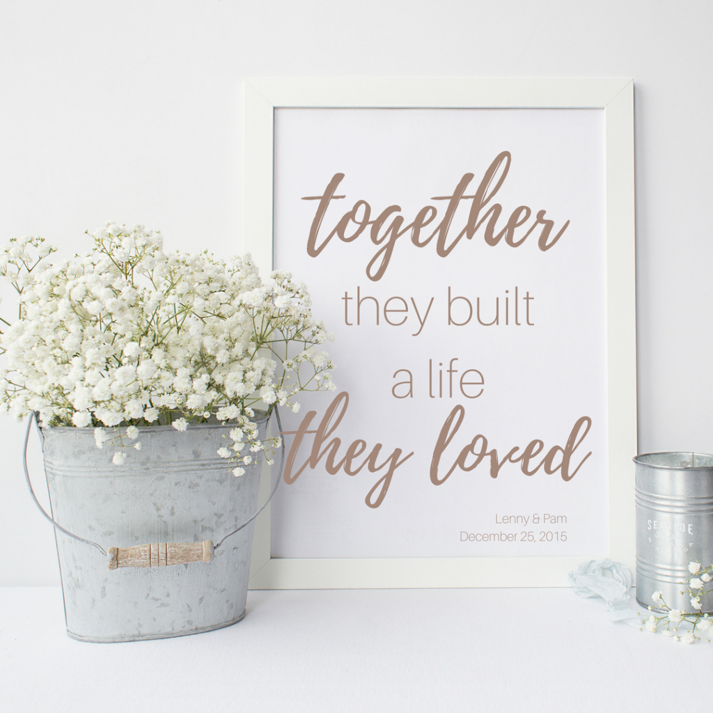 Love Print: Together they built a life they loved.