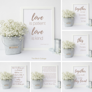 Download 6 FREE Love Prints from The Birch Cottage