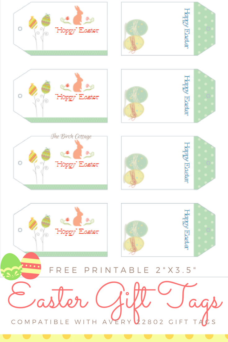 It's just a photo of Accomplished Printable Easter Tag