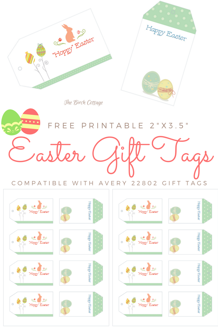 It is a graphic of Canny Printable Easter Tag