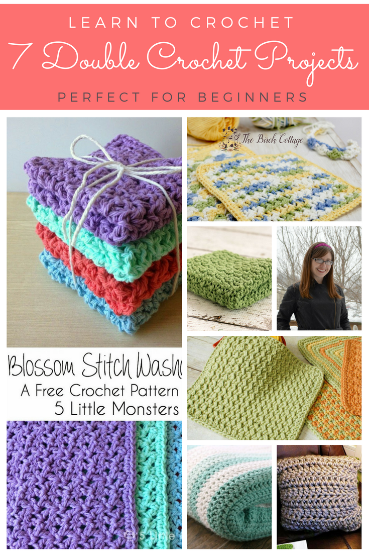 7 Easy Double Crochet Patterns from The Birch Cottage