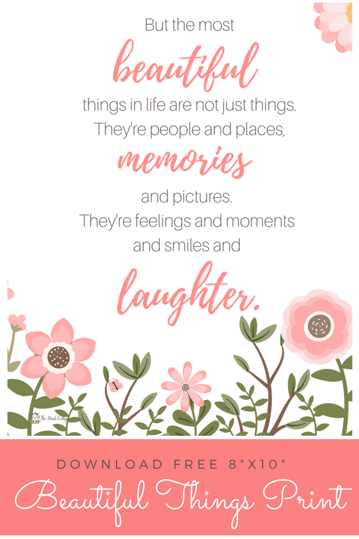Download this free printable 8x10 Beautiful Things Print by The Birch Cottage #wallart #homedecor #freeprintable