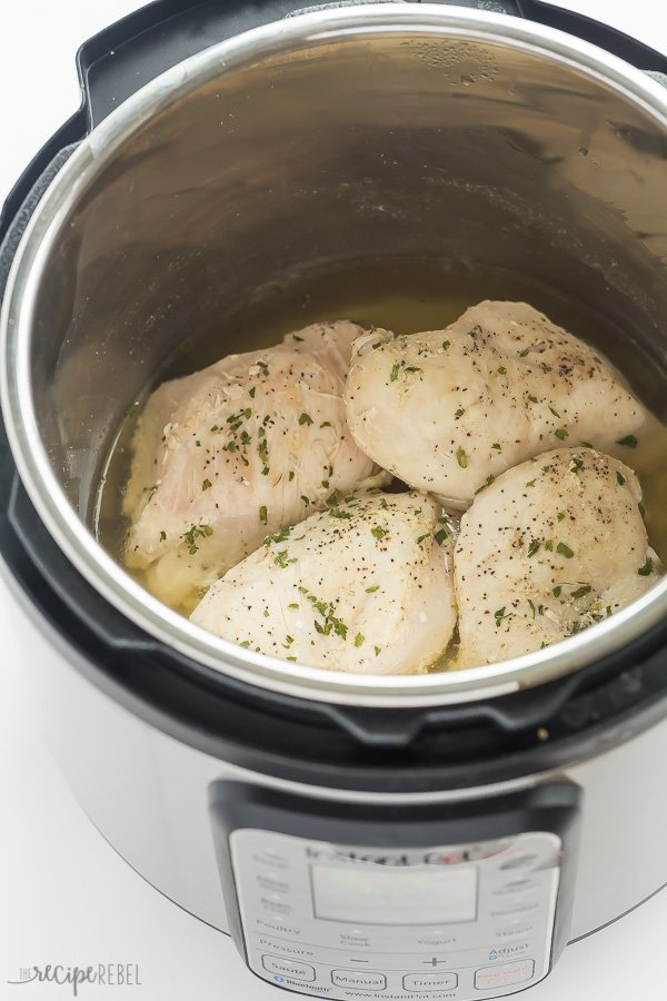 Instant Pot Frozen Chicken Breasts by The Recipe Rebel