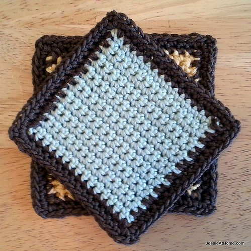 Jessie At Home Single Crochet Coaster