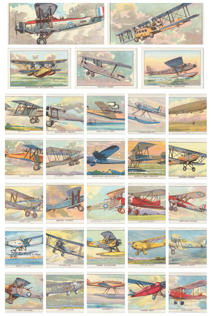 32 Printable Vintage Airplane Illustrations from The Birch Cottage