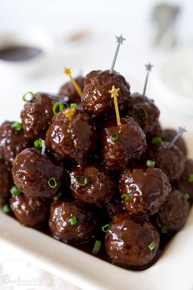 Instant Pot Sweet BBQ Meatballs by Pressure Cooking Today
