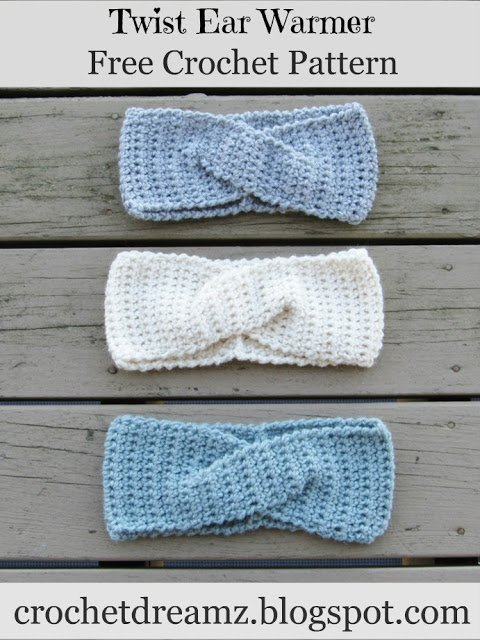 Crochet Dreamz Twist Headband Crochet Pattern