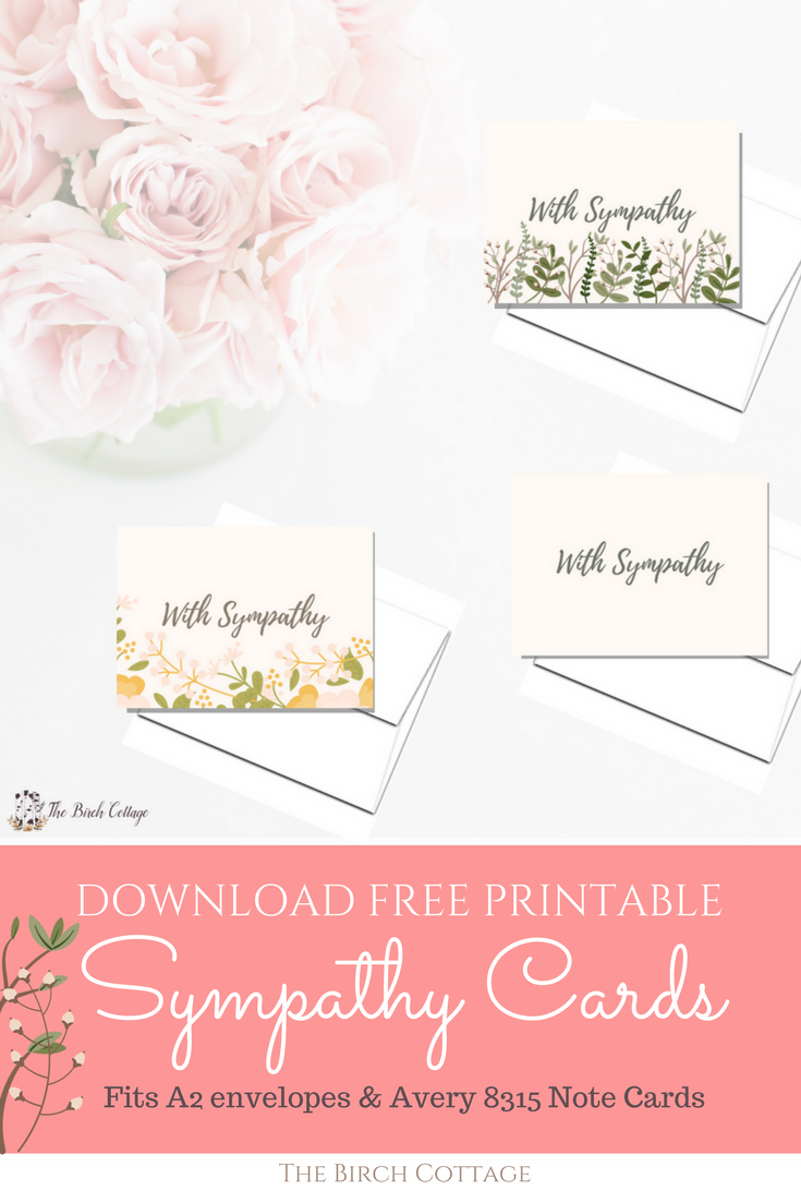 It is a picture of Sympathy Card Printable regarding non profit